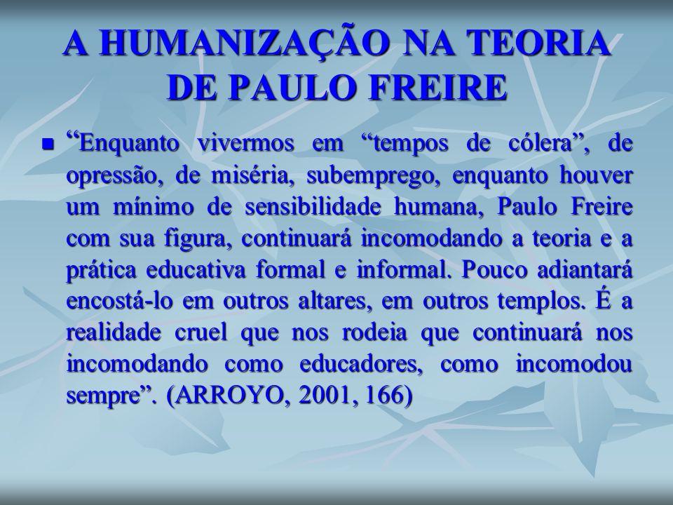 A HUMANIZAÇÃO NA TEORIA DE PAULO FREIRE