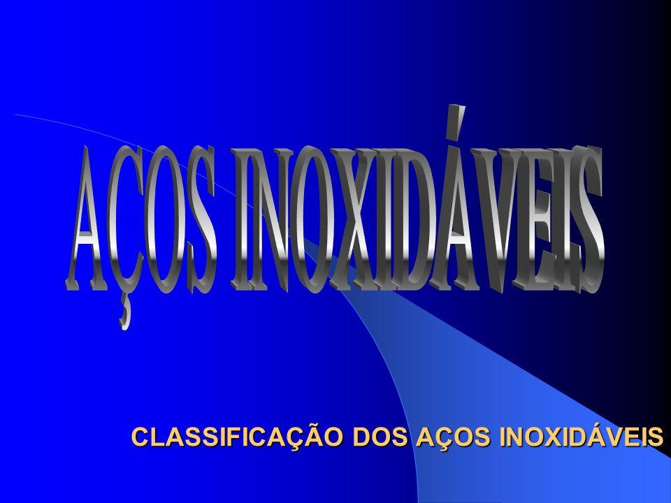 CLASSIFICAÇÃO DOS AÇOS INOXIDÁVEIS