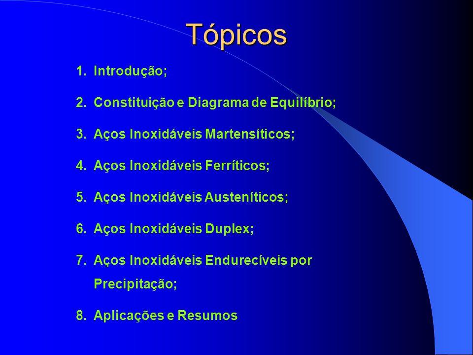 Tópicos Introdução; Constituição e Diagrama de Equilíbrio;