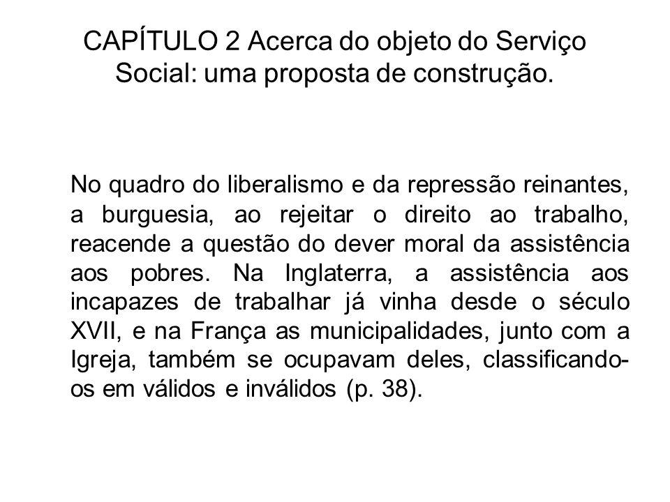 CAPÍTULO 2 Acerca do objeto do Serviço Social: uma proposta de construção.