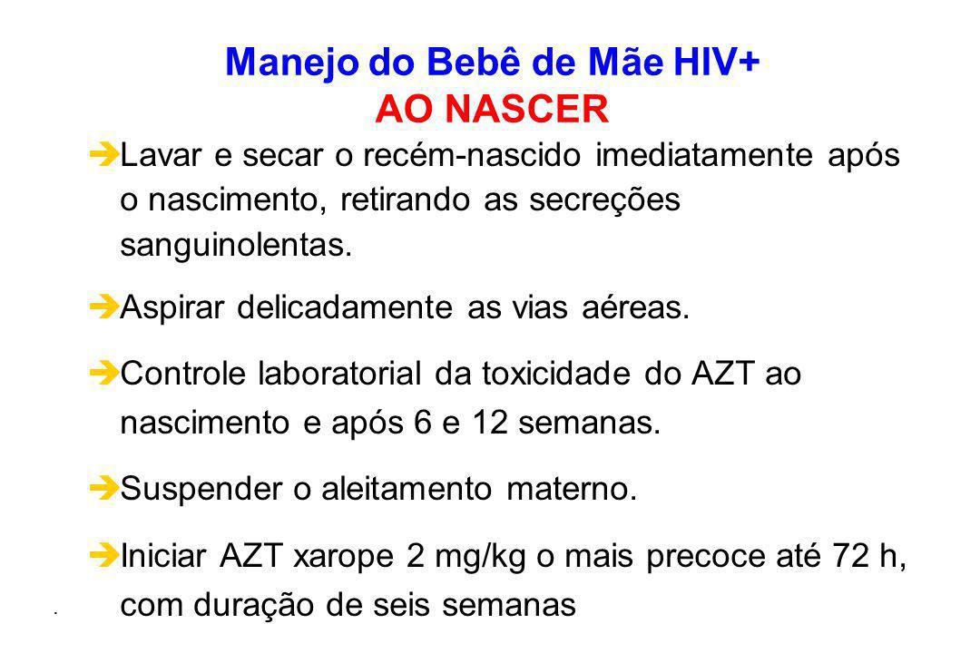 Manejo do Bebê de Mãe HIV+ AO NASCER
