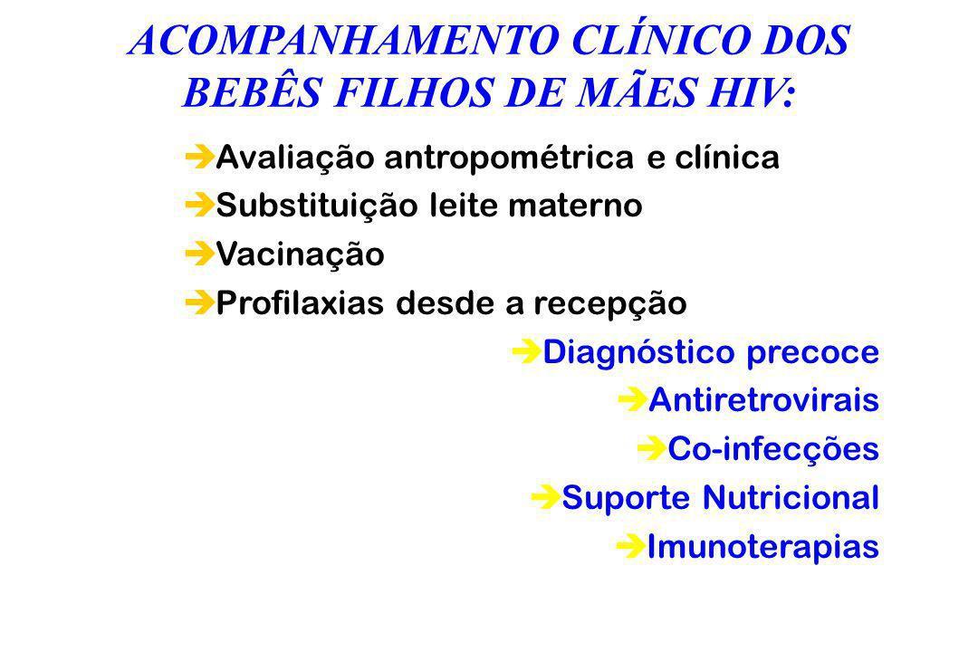 ACOMPANHAMENTO CLÍNICO DOS BEBÊS FILHOS DE MÃES HIV: