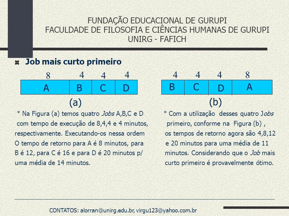 FUNDAÇÃO EDUCACIONAL DE GURUPI FACULDADE DE FILOSOFIA E CIÊNCIAS HUMANAS DE GURUPI UNIRG - FAFICH