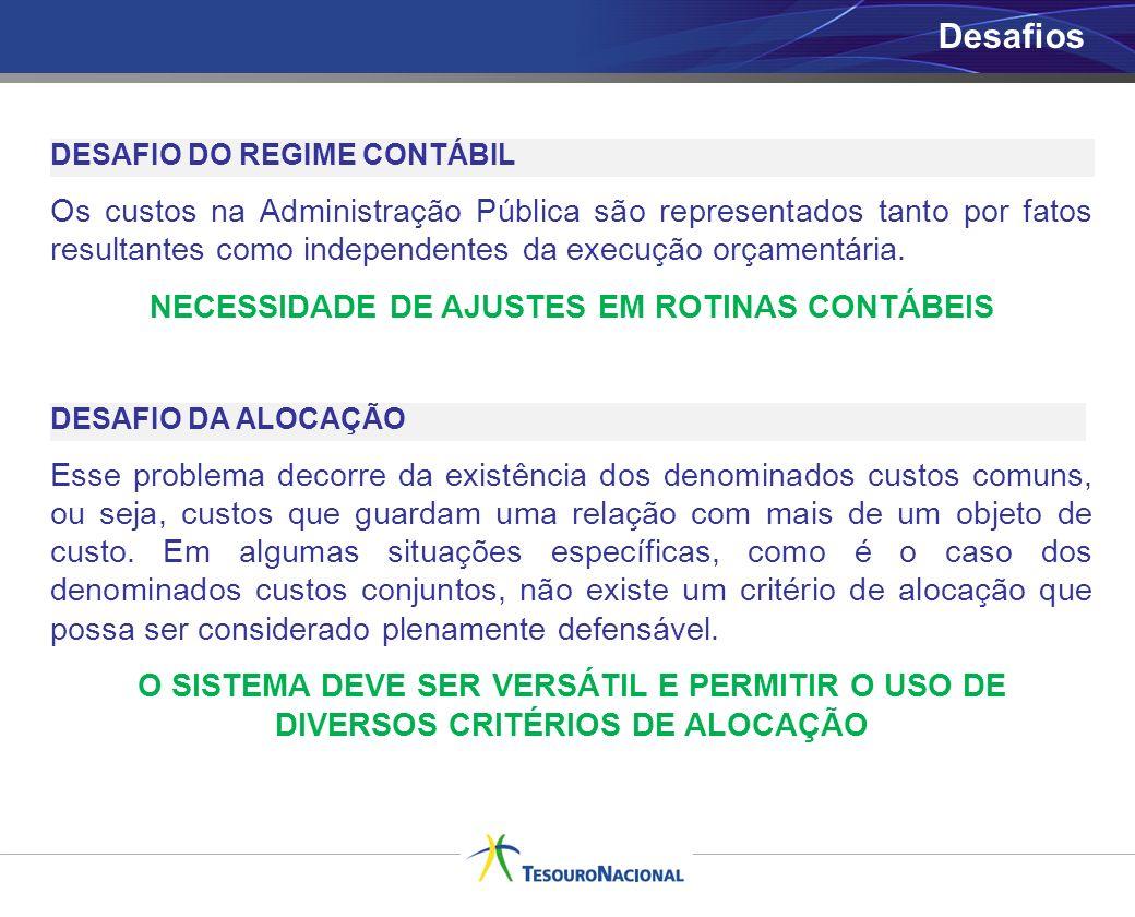 NECESSIDADE DE AJUSTES EM ROTINAS CONTÁBEIS