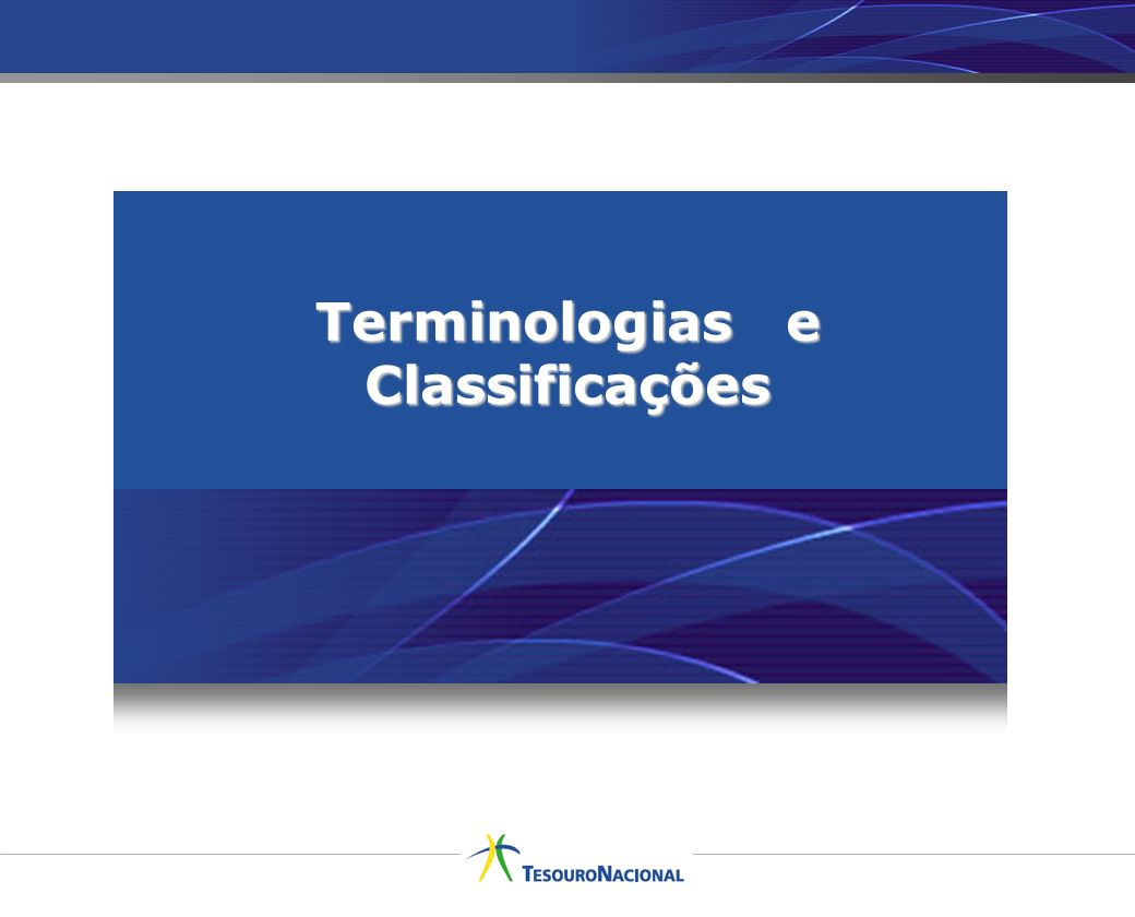 Terminologias e Classificações