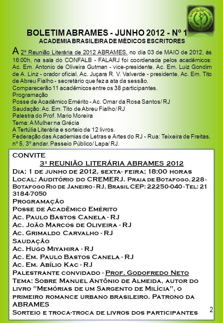 BOLETIM ABRAMES - JUNHO 2012 - Nº 129