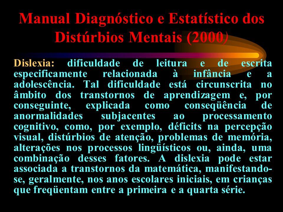 Manual Diagnóstico e Estatístico dos Distúrbios Mentais (2000)