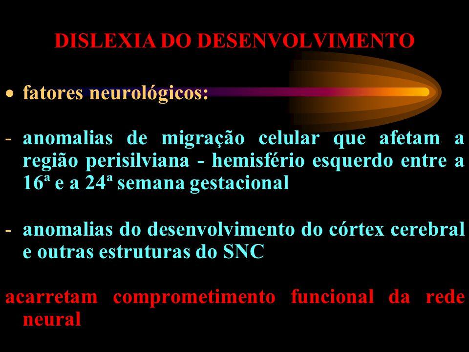 DISLEXIA DO DESENVOLVIMENTO