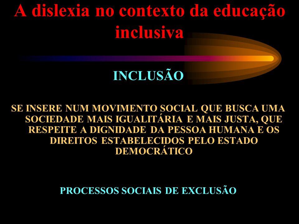 A dislexia no contexto da educação inclusiva