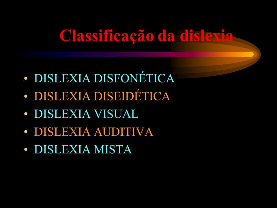 Classificação da dislexia