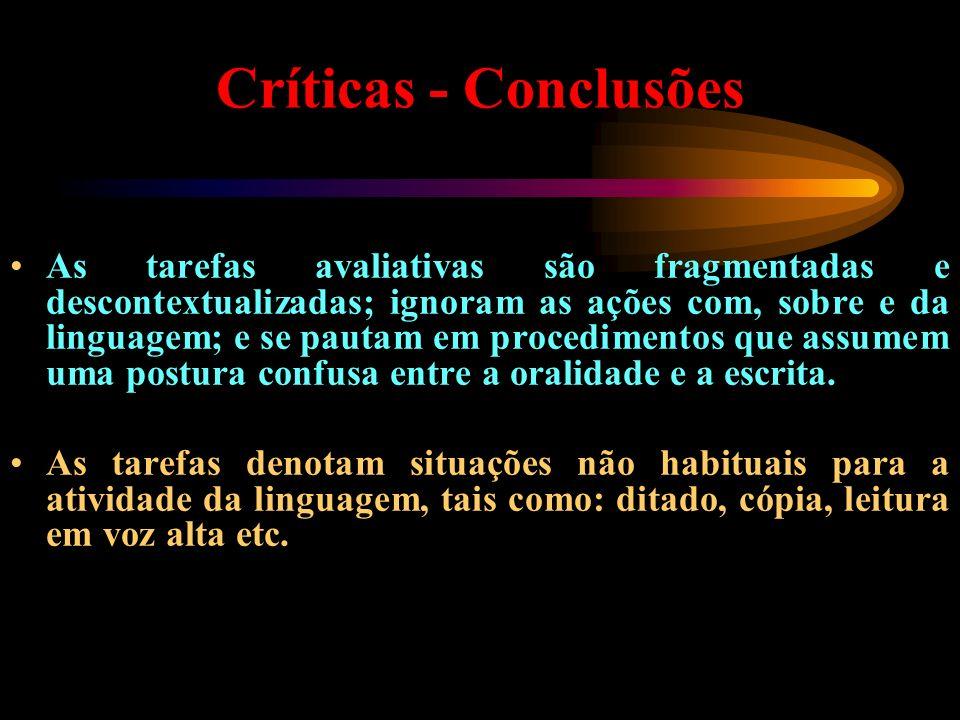 Críticas - Conclusões