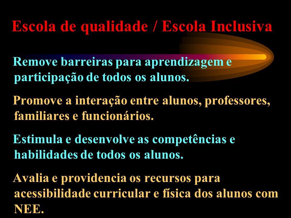 Escola de qualidade / Escola Inclusiva