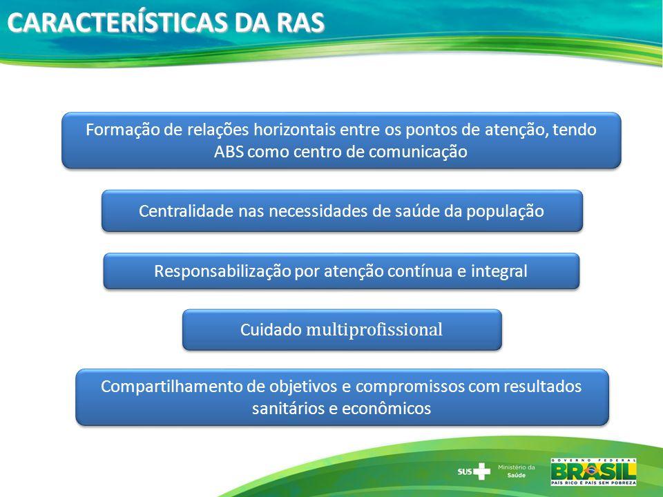 CARACTERÍSTICAS DA RAS