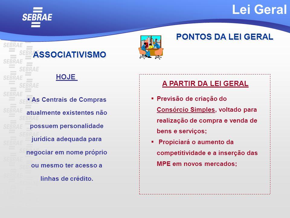 Lei Geral PONTOS DA LEI GERAL ASSOCIATIVISMO HOJE