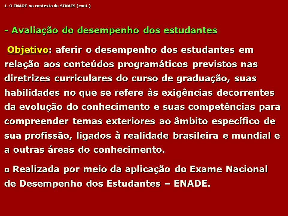 - Avaliação do desempenho dos estudantes