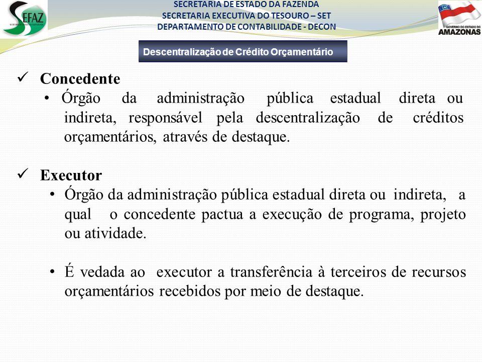 • Órgão da administração pública estadual direta ou