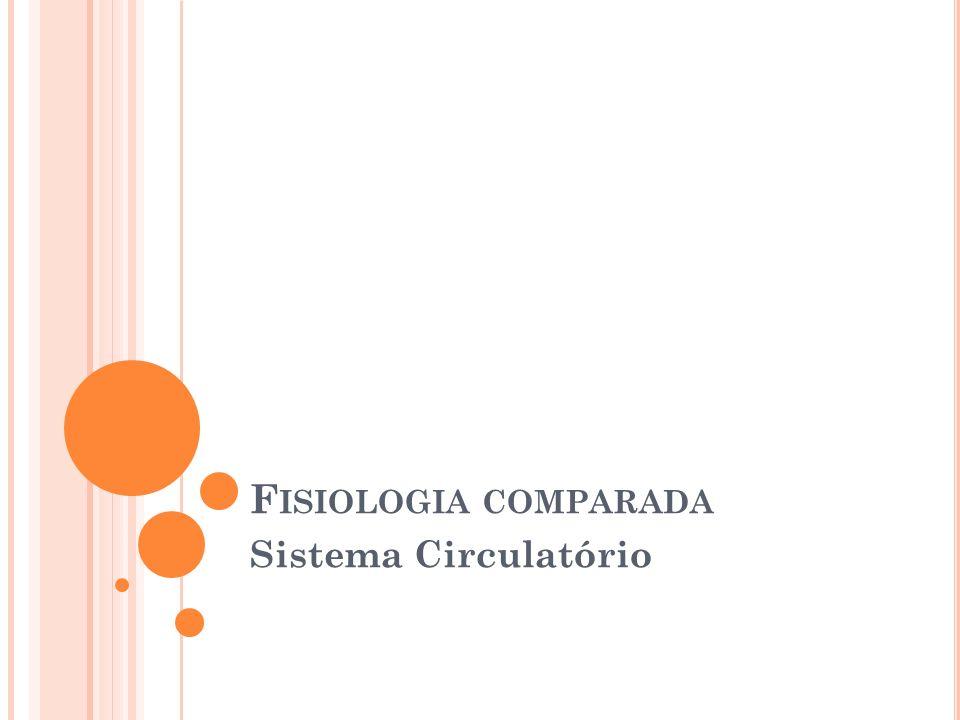 Fisiologia comparada Sistema Circulatório
