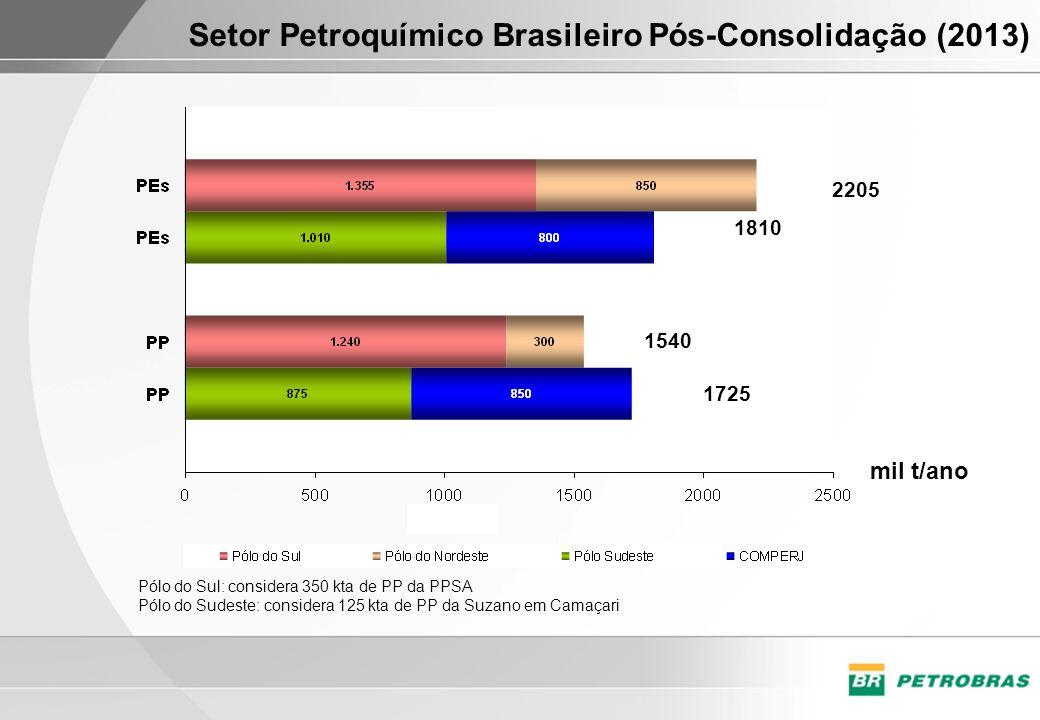 Setor Petroquímico Brasileiro Pós-Consolidação (2013)
