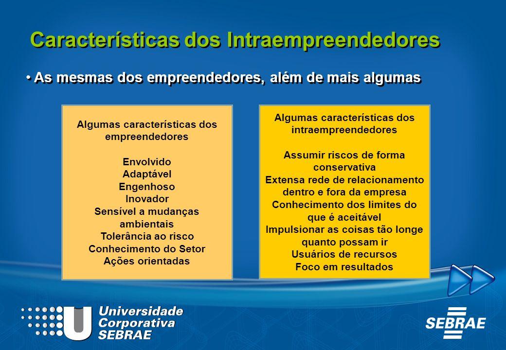 Características dos Intraempreendedores