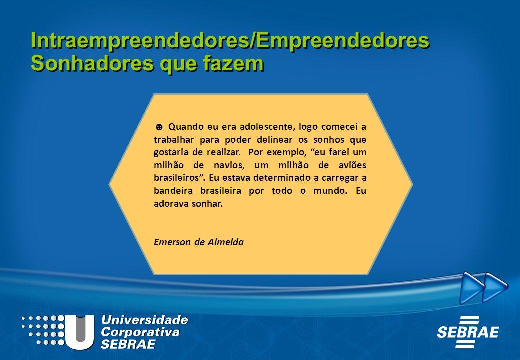 Intraempreendedores/Empreendedores Sonhadores que fazem