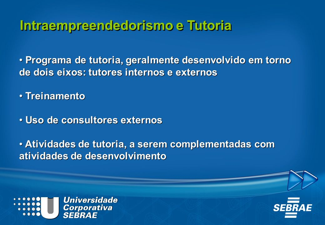 Intraempreendedorismo e Tutoria