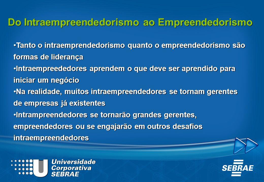 Do Intraempreendedorismo ao Empreendedorismo