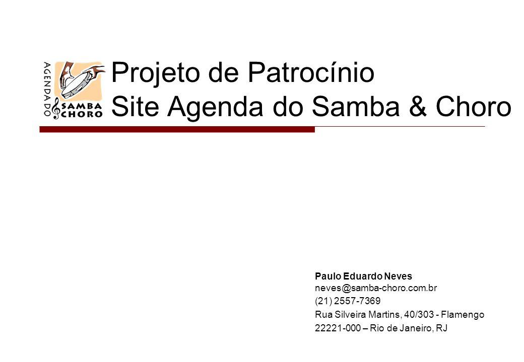 Projeto de Patrocínio Site Agenda do Samba & Choro