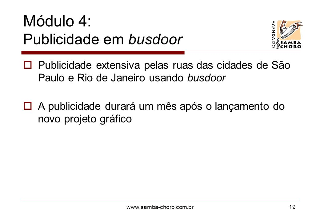 Módulo 4: Publicidade em busdoor