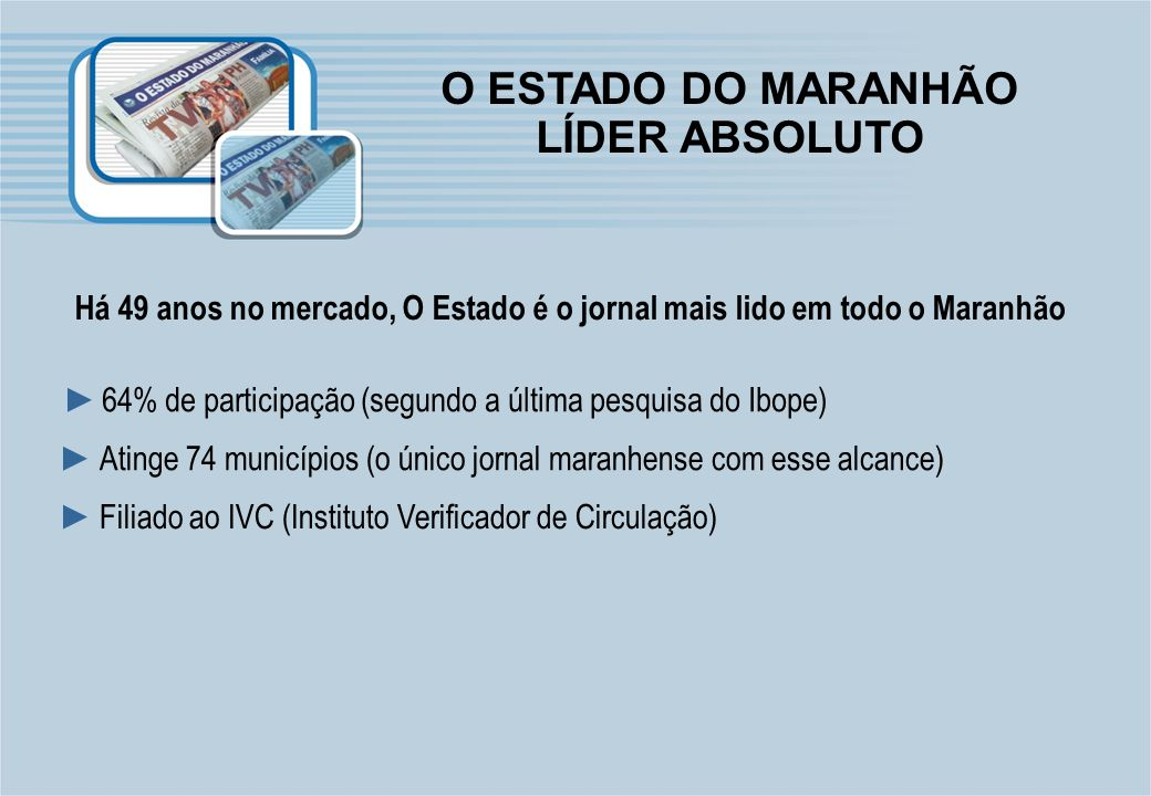 O ESTADO DO MARANHÃO LÍDER ABSOLUTO