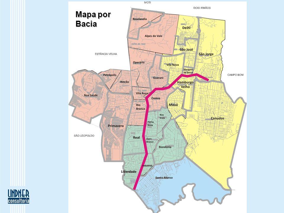 Mapa por Bacia
