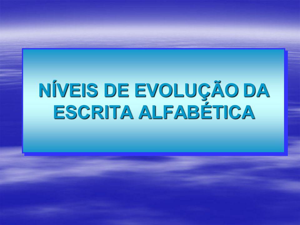 NÍVEIS DE EVOLUÇÃO DA ESCRITA ALFABÉTICA