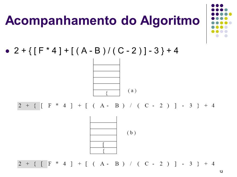 Acompanhamento do Algoritmo