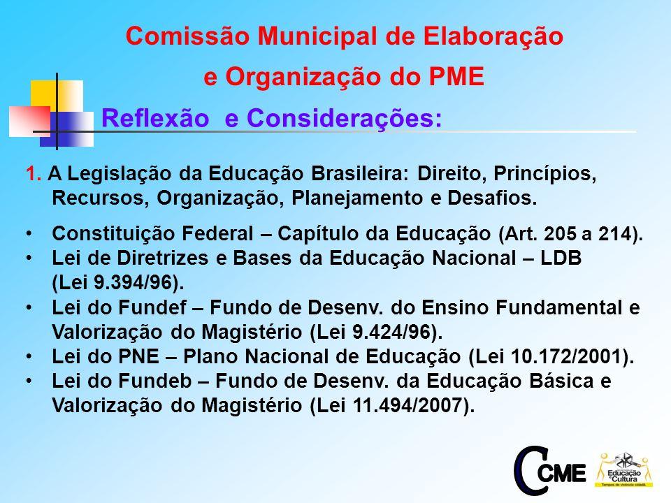 Comissão Municipal de Elaboração Reflexão e Considerações: