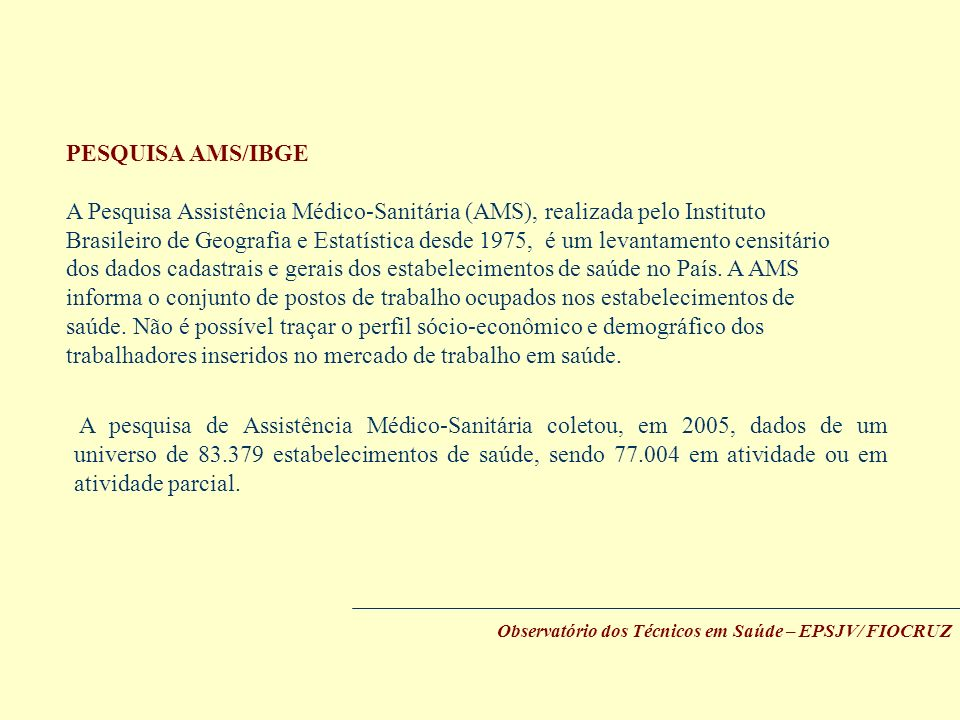 PESQUISA AMS/IBGE