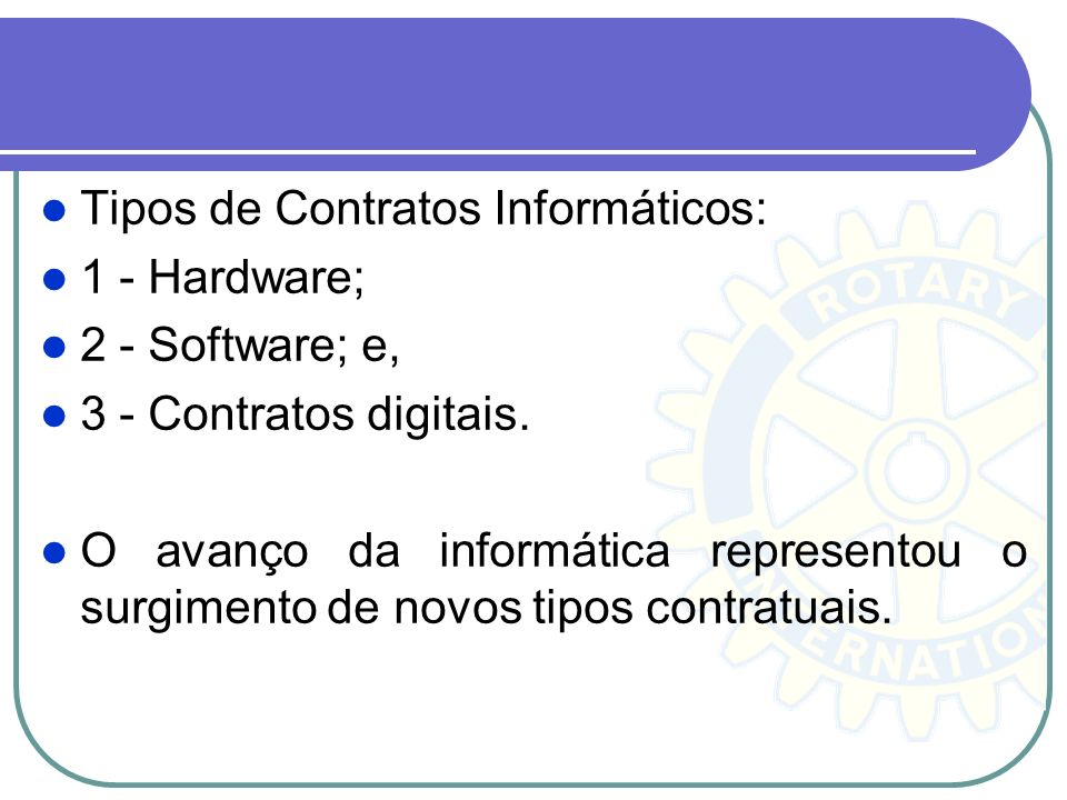 Tipos de Contratos Informáticos: