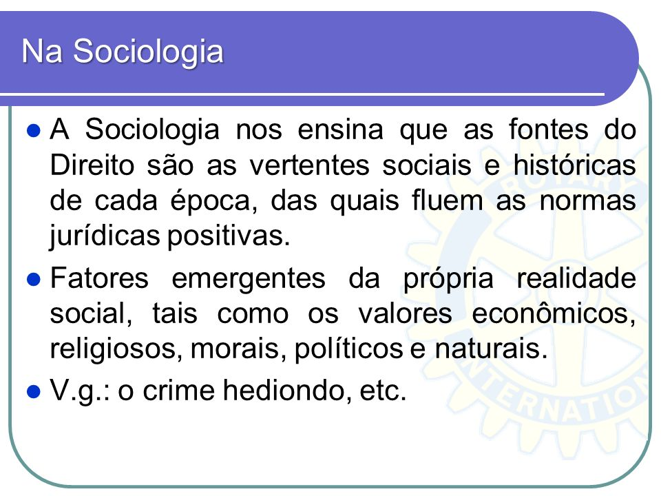 Na Sociologia