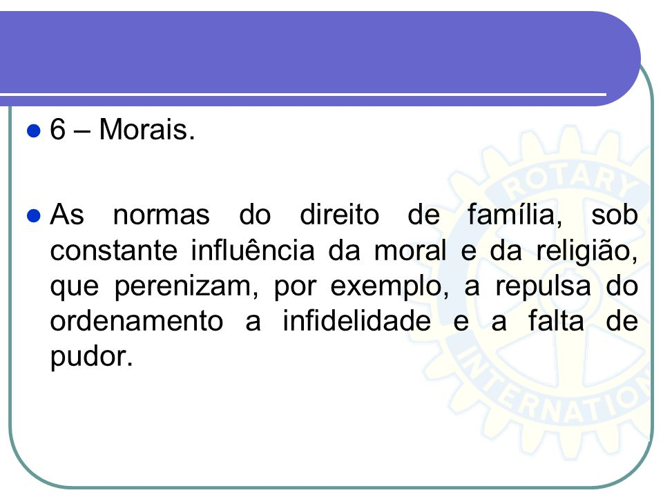 6 – Morais.