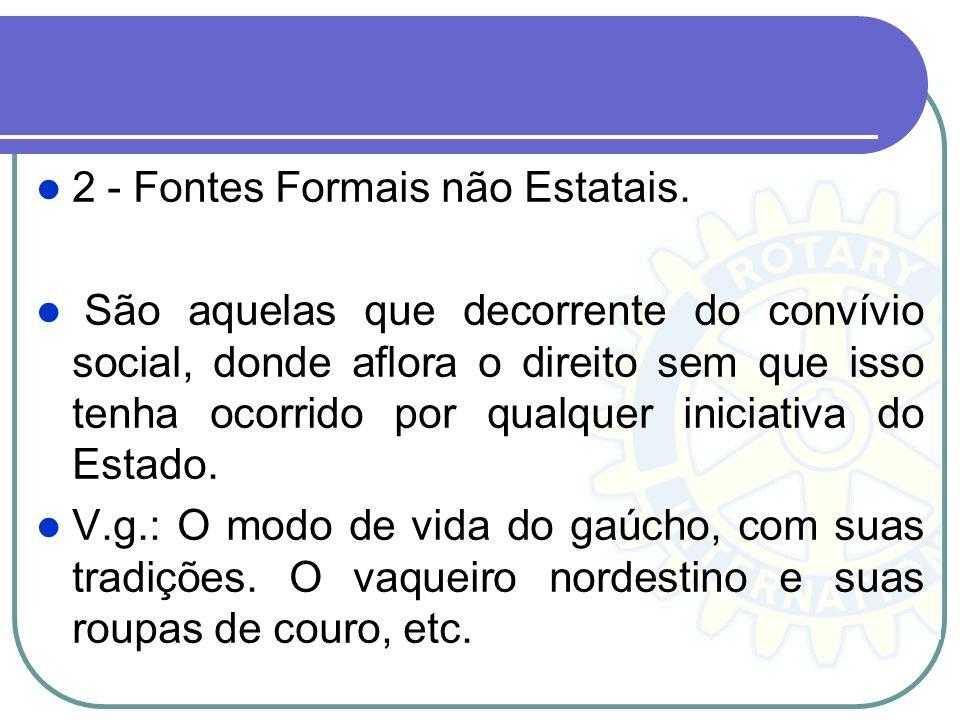 2 - Fontes Formais não Estatais.