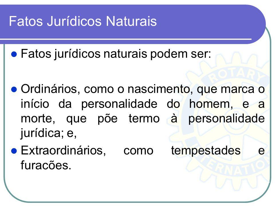 Fatos Jurídicos Naturais