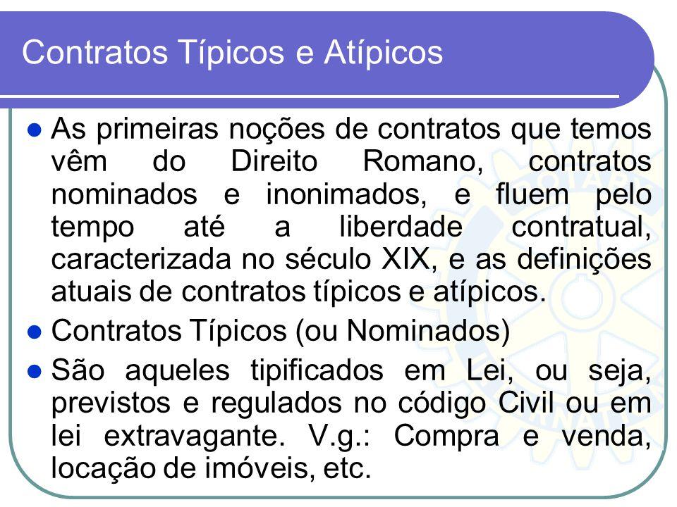 Contratos Típicos e Atípicos