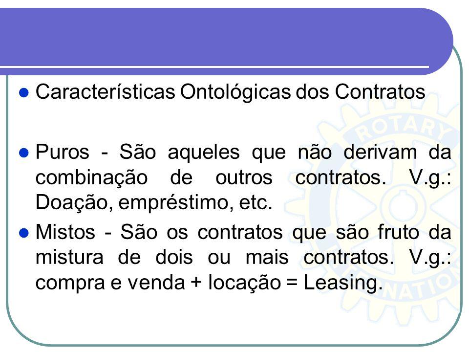 Características Ontológicas dos Contratos