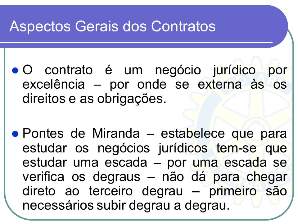 Aspectos Gerais dos Contratos