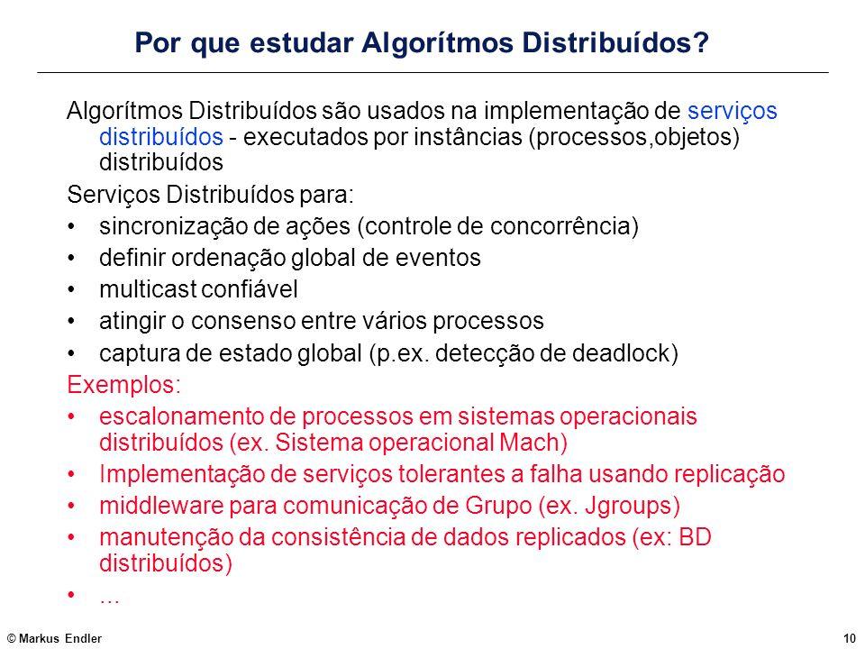 Por que estudar Algorítmos Distribuídos