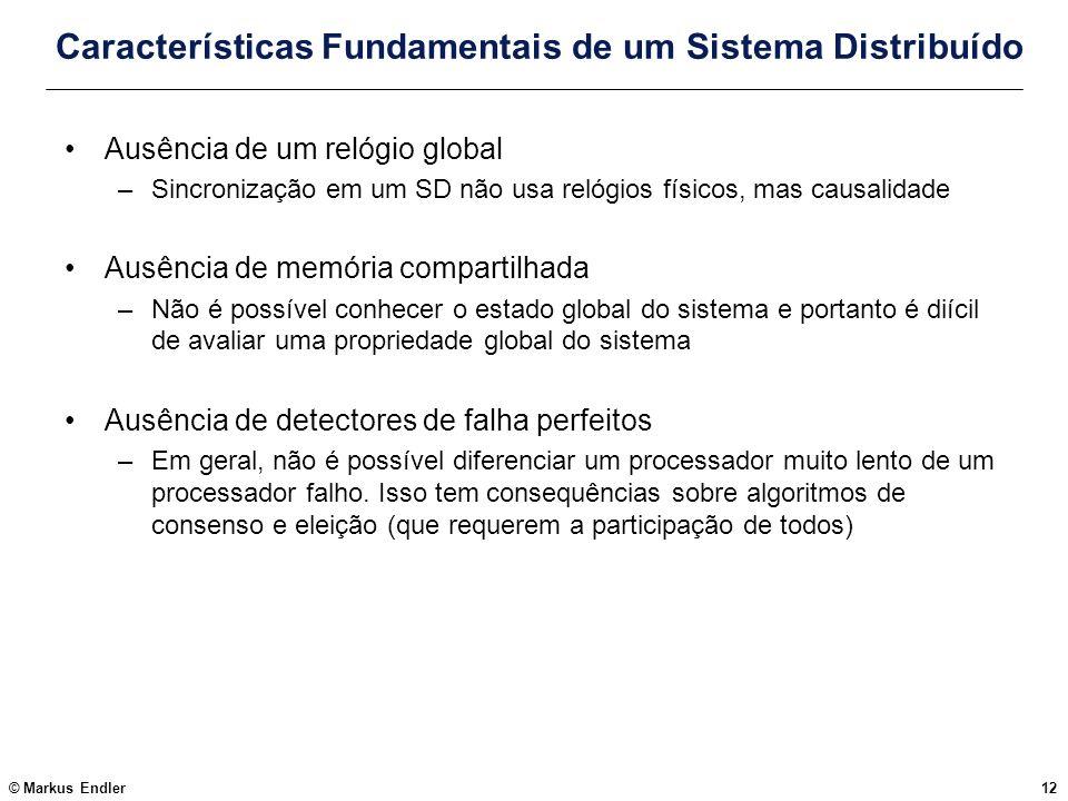 Características Fundamentais de um Sistema Distribuído