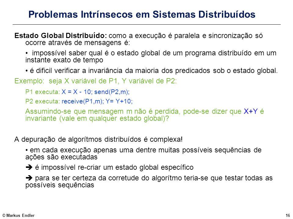 Problemas Intrínsecos em Sistemas Distribuídos
