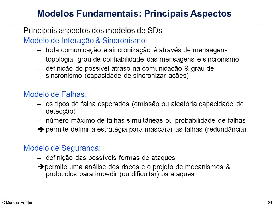 Modelos Fundamentais: Principais Aspectos