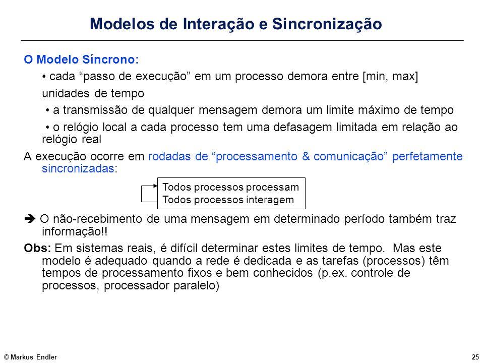 Modelos de Interação e Sincronização
