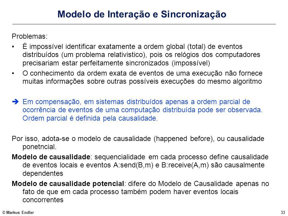 Modelo de Interação e Sincronização