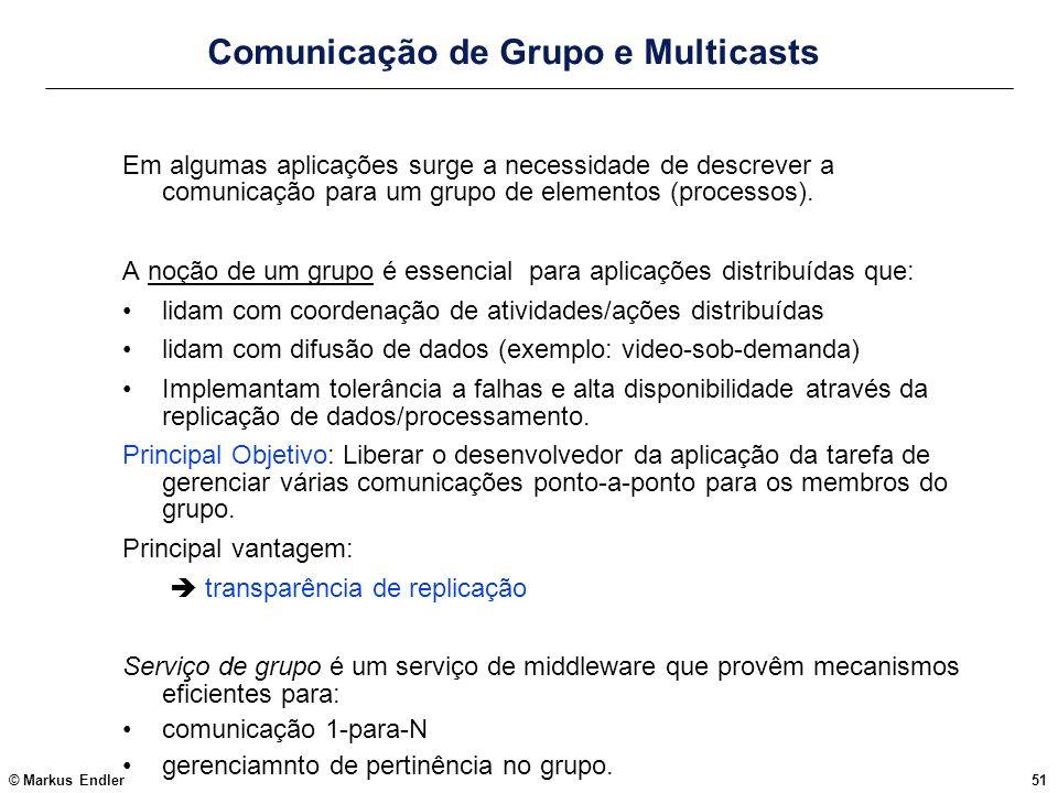 Comunicação de Grupo e Multicasts