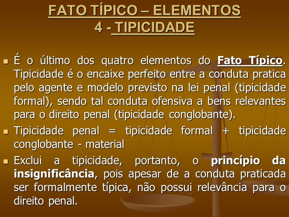 FATO TÍPICO – ELEMENTOS 4 - TIPICIDADE